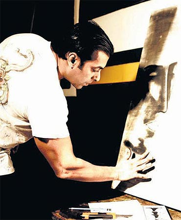 Salman Khan, the painter