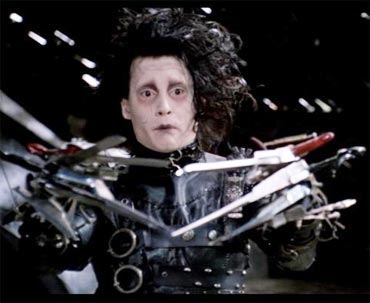 A scene from Edward Scissorhands