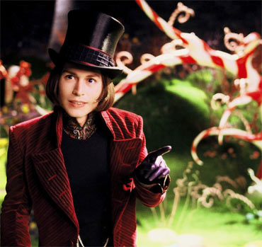 A scene from Charlie And The Chocolate Factory