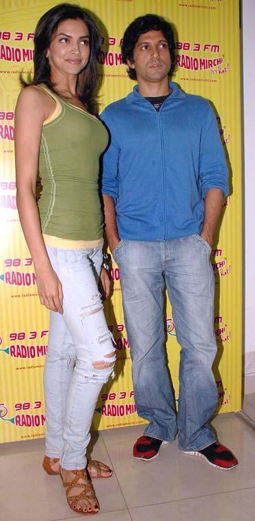 Deepika Padukone and Farhan Akhtar