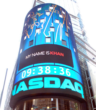 The exterior of the NASDAQ building