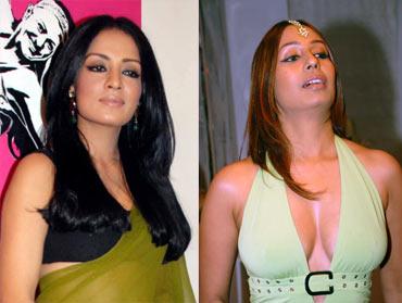 Celina Jaitley and Kashmira Shah