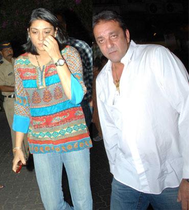 Priya and Sanjay Dutt