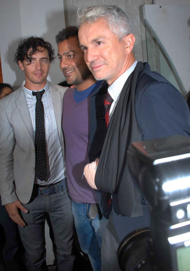 Vincent Fantauzzo, Rock On!! director Abhishek Kapoor and Baz Luhrmann