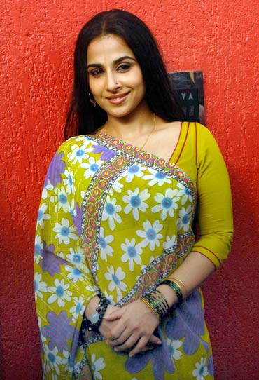 Vidya Balan at a promotional event for her film Ishqiya