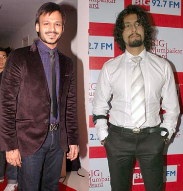 Vivek Oberoi and Sonu Nigam