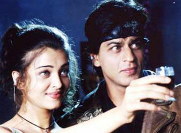 Aishwarya Rai Bachchan and Shah Rukh Khan