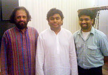 Writer of Aaromale Kaithapram, A R Rahman and Alphons Joseph