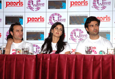 Saif Ali Khan, Katrina Kaif and Harman Baweja
