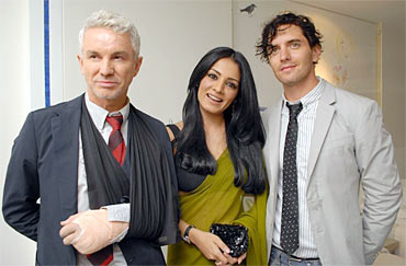 Celina Jaitly, Baz Luhrmann and Vincent Fantauzzo