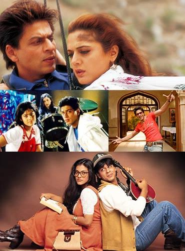 Shah Rukh Khan in Veer Zaara, Kuch Kuch Hota Hai, Rab Ne Bana Di Jodi and Dilwale Dulhania Le Jayenge