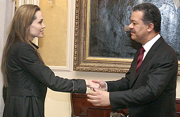 Angelina Jolie and Leonel Fernandez