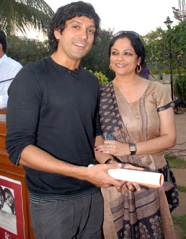 Farhan Akhtar and Tanvi Azmi