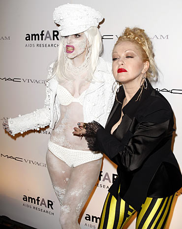 Lady Gaga and Cyndi Lauper