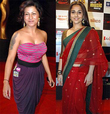 Hard Kaur and Vidya Balan