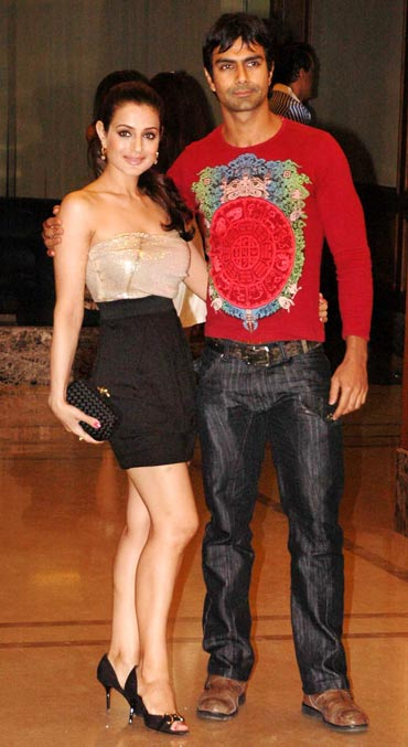 Amisha and Ashmit Patel