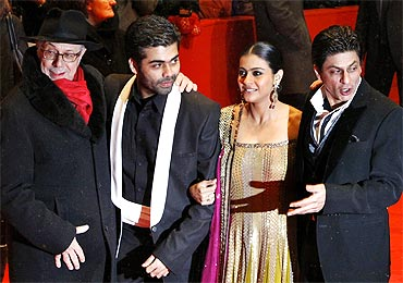 Berlinale director Dieter Kosslick, Karan Johar, Kajol and Shah Rukh Khan