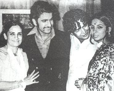Shaukat Azmi, Baba Azmi, Kaifi Azmi and Shabana Azmi