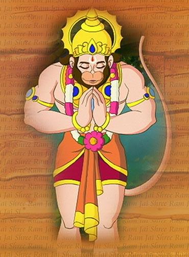 A scene from Hanuman