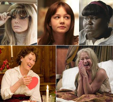 Sandra Bullock, Carey Mulligan, Gabourey Sidibe, Meryl Streep and Helen Mirren