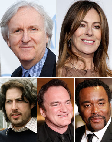 James Cameron, Kathryn Bigelow, Jason Reitman, Quentin Tarantino and Lee Daniels