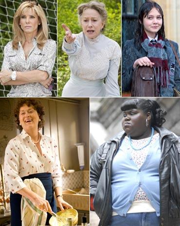 Sandra Bullock, Helen Mirren, Carey Mulligan, Meryl Streep and Gabourey Sidibe
