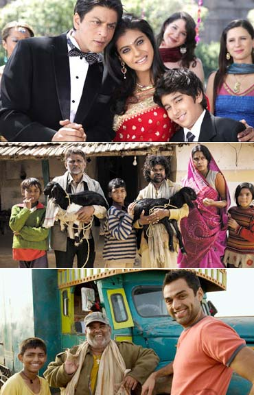 Scenes from My Name is Khan, Peepli Live and Road Movie