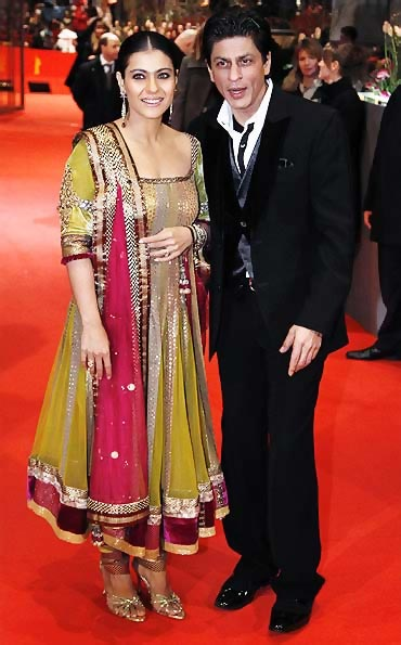 Kajol and Shah Rukh Khan in Berlin