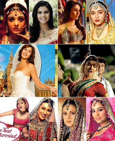 Aishwarya Rai Bachchan, Kajol, Kareena Kapoor, Madhuri Dixit, Katrina Kaif, Priyanka Chopra, Mallika Sherawat, Karisma Kapoor, Preity Zinta and Bipasha Basu