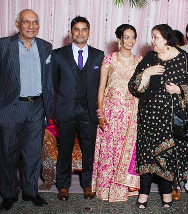 Yash Chopra, Hemant, Rashi and Pam Chopra