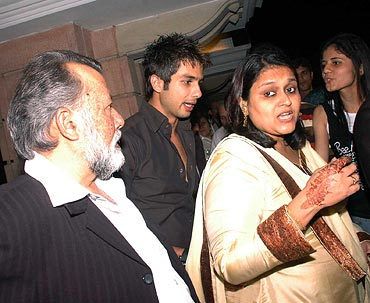 Pankaj Kapur, Shahid and Supriya Pathak