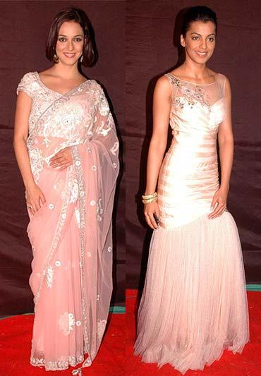 Nauheed Cyrushi and Mugdha Godse