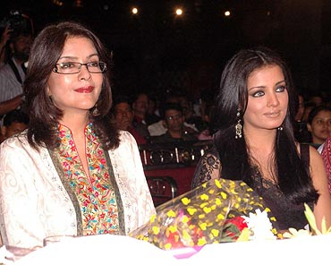 Zeenat Aman and Celina Jaitely