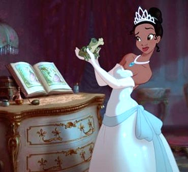 A scene from The Princess and the Frog