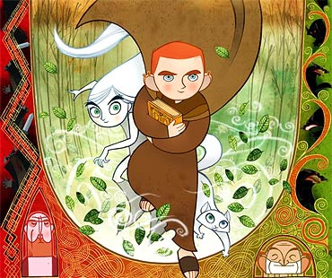 A scene from The Secret of Kells