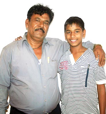 Sagar and his father Ashok Salunke