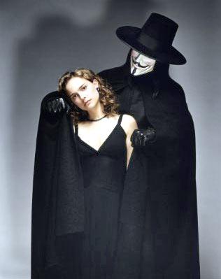 A scene from V For Vendetta