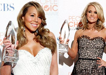Mariah Carey and Carrie Underwood