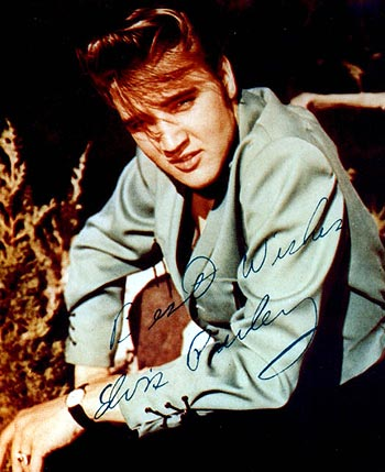 Elvis Presley is pictured in this undated publicity photograph