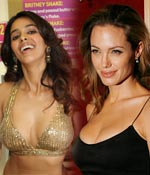 Mallika Sherawat and Angelina Jolie