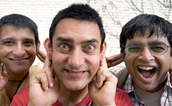 Sharman Joshi, Aamir Khan and R Madhavan