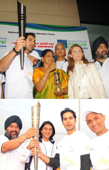 Top: John, Shailaja Girkar, Maria. Bottom: Jaspal Bindra, Priya Dutt, Dino Morea and Vivek B Singh