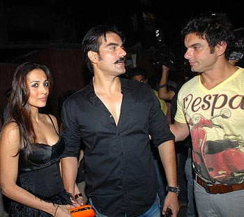 Malaika Arora, Arbaaz and Sohail Khan