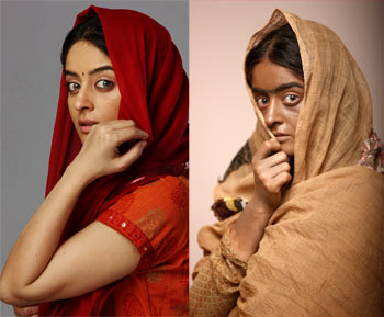 Mahi Vij, before and after make-up