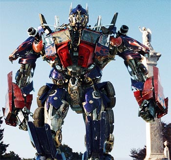 A scene from Transformers: Revenge of the Fallen