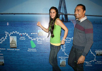 Tara Sharma and Rahul Bose
