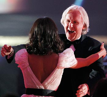 James Cameron and Zoe Saldana