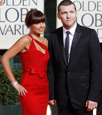 Sam Worthington and his girlfriend Natalie Mark
