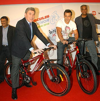 Eddy Merckx and Salman Khan