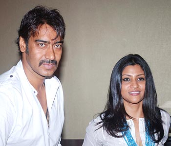 Ajay Devgn and Konkona Sen Sharma